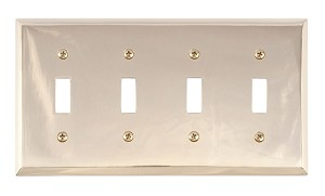 Brass Accents M07-S4591 Quaker Quad Switch, Polished Brass