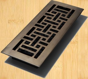 Decor Grates AJ412-RB Oriental Design In Solid Brass Floor Registers 4