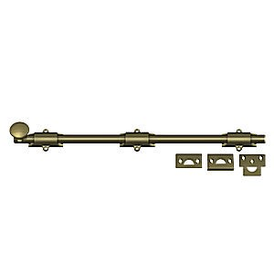 "Deltana 18SB5 Surface Bolt 18"", Heavy Duty, Antique Brass (Each)"