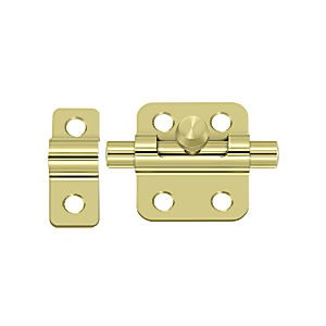 "Deltana 2BBU3 Barrel Bolt 2"", Polished Brass (Each)"