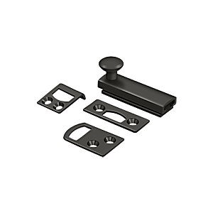 "Deltana 2SBCS10B Surface Bolt 2"" with Concealed Screw, Heavy Duty, Oil Rubbed Bronze (Each)"