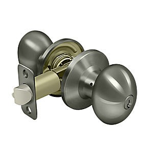 Deltana 3381-15A Egg Knob Entry, Antique Nickel (Each)