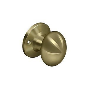 Deltana 3384D-5 Egg Knob Dummy, Antique Brass (Each)