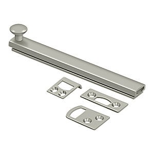 "Deltana 6SBCS15 Surface Bolt 6"" with Concealed Screw, Heavy Duty, Satin Nickel (Each)"