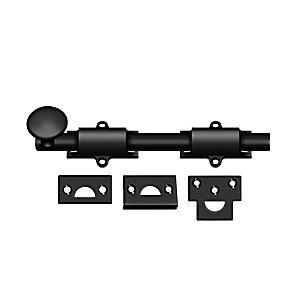"Deltana 8SB19 Surface Bolt 8"", Heavy Duty, Paint Black (Each)"