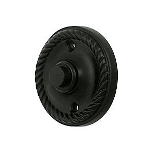 Deltana BBRR213U19 Bell Button, Round Rope, Paint Black (Each)