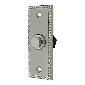 Deltana BBSR333U15 Bell Button, Rectangular Rope, Satin Nickel (Each)