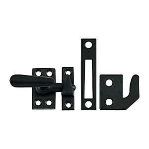Deltana CF066U19 Window Lock, Casement Fastener, Small, Paint Black (Each)