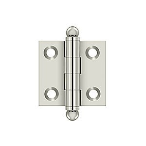 "Deltana CH1515U14 Hinge with Ball Tips 1-1/2"" x 1-1/2"", Polished Nickel (Pair)"