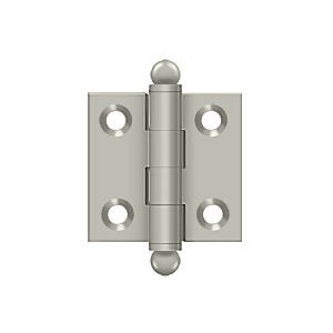 "Deltana CH1515U15 Hinge with Ball Tips 1-1/2"" x 1-1/2"", Satin Nickel (Pair)"