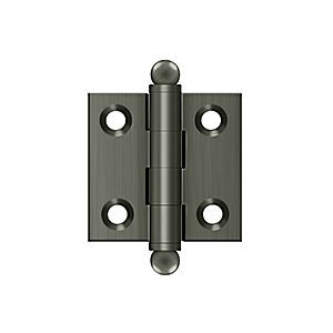 "Deltana CH1515U15A Hinge with Ball Tips 1-1/2"" x 1-1/2"", Antique Nickel (Pair)"