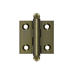 "Deltana CH1515U5 Hinge with Ball Tips 1-1/2"" x 1-1/2"", Antique Brass (Pair)"