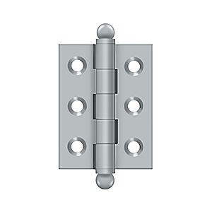 "Deltana CH2015U26D Hinge with Ball Tips 2"" x 1-1/2"", Brushed Chrome (Pair)"
