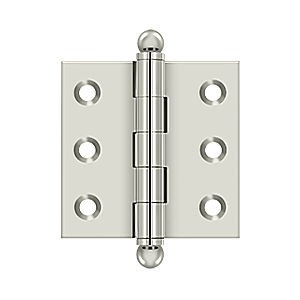 "Deltana CH2020U14 Hinge with Ball Tips 2"" x 2"", Polished Nickel (Pair)"