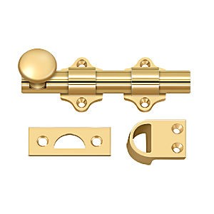 "Deltana DDB425CR003 Dutch Door Bolt 4"", Heavy Duty, PVD (Each)"