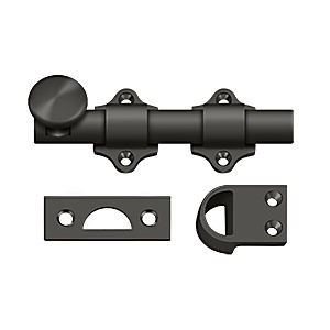 "Deltana DDB425U10B Dutch Door Bolt 4"", Heavy Duty, Oil Rubbed Bronze (Each)"