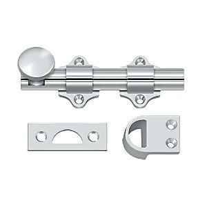 "Deltana DDB425U26 Dutch Door Bolt 4"", Heavy Duty, Chrome (Each)"