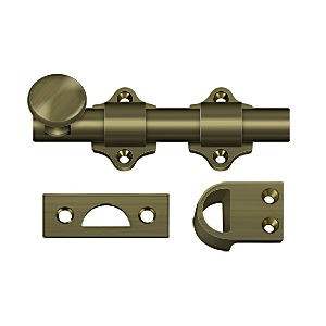 "Deltana DDB425U5 Dutch Door Bolt 4"", Heavy Duty, Antique Brass (Each)"