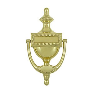 Deltana DKR75U3 Victorian Rope Door Knocker, Polished Brass (Each)