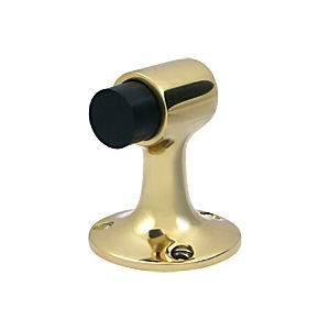 Deltana DSF3225U3 Floor Mount Bumper, HD, Polished Brass (Each)