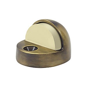 Deltana DSHP916U5 Dome Stop High Profile, Antique Brass (Each)