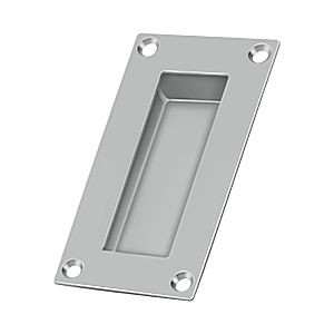"Deltana FP155U32D Rectangular Flush Pull, 4"" x 1"" x 1/2"", Satin Staniless Steel (Each)"