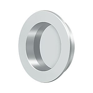 "Deltana FP238U26 Flush Pull Round HD 2-3/8"" Solid Brass, Polished Chrome"