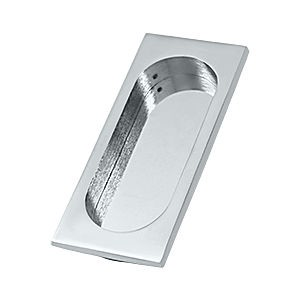 "Deltana FP4134U26 Large Flush Pull, 4"" x 1-3/4"" x7/16"", Chrome (Each)"