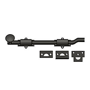 "Deltana FPG1010B Surface Bolt with Off-set 10"", Heavy Duty, Oil Rubbed Bronze (Each)"