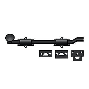 "Deltana FPG1019 Surface Bolt with Off-set 10"", Heavy Duty, Paint Black (Each)"