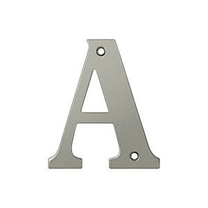 Deltana RL4A-15 Residential Letter A, Satin Nickel (Each)