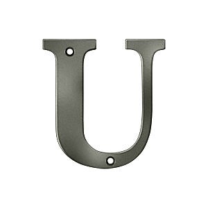Deltana RL4U-15A Residential Letter U, Antique Nickel (Each)