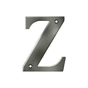 Deltana RL4Z-15A Residential Letter Z, Antique Nickel (Each)