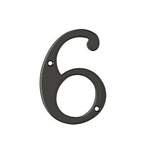 Deltana RN4-6U10B House Number 6, Oil Rubbed Bronze (Each)