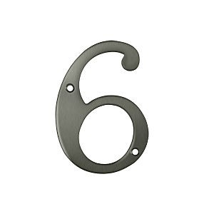 Deltana RN4-6U15A House Number 6, Antique Nickel (Each)