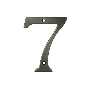 Deltana RN4-7U15A House Number 7, Antique Nickel (Each)