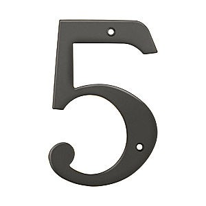 Deltana RN6-5U10B House Number 5, Oil Rubbed Bronze (Each)