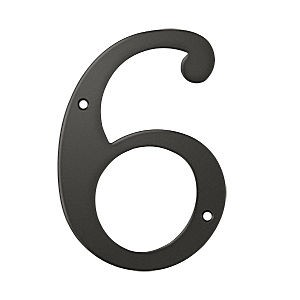 Deltana RN6-6U10B House Number 6, Oil Rubbed Bronze (Each)