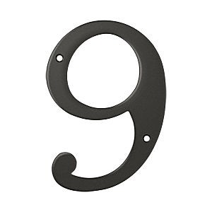 Deltana RN6-9U10B House Number 9, Oil Rubbed Bronze (Each)