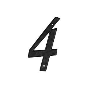 Deltana RNZ4-4 House Number 4, Black (Each)