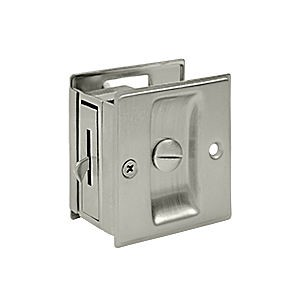 "Deltana SDL25U14 Pocket Lock, 2-1/2"" x 2-3/4"" Privacy, Polished Nickel (Each)"