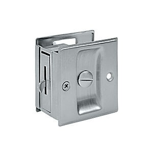 "Deltana SDL25U26D Pocket Lock, 2-1/2"" x 2-3/4"" Privacy, Brushed Chrome (Each)"