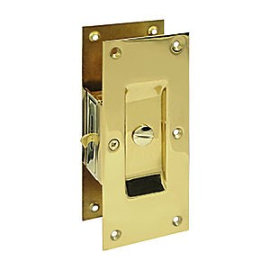 "Deltana SDL60U3 Decorative Pocket Lock 6"", Privacy, Polished Brass (Each)"