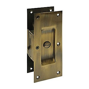 "Deltana SDL60U5 Decorative Pocket Lock 6"", Privacy, Antique Brass (Each)"