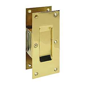 "Deltana SDP60U3 Decorative Pocket Lock 6"", Passage, Polished Brass (Each)"