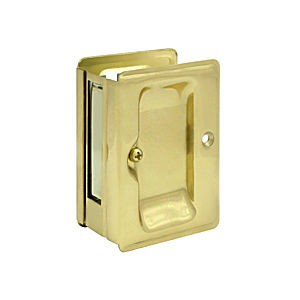 "Deltana SDPA325U3 HD Pocket Lock 3-1/4"" x 2-1/4"" Passage, Polished Brass (Each)"
