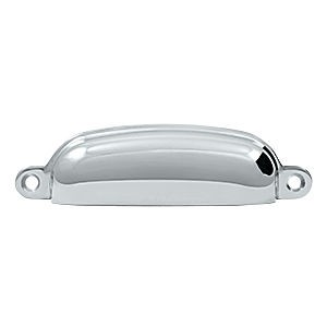"Deltana SHP29U26 Exposed Shell Pull 4"", Chrome (Each)"