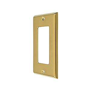 Deltana SWP4754CR003 Switch Plate, Single Rocker, PVD (Each)