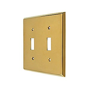 Deltana SWP4761CR003 Switch Plate, Double Standard, PVD (Each)