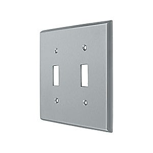 Deltana SWP4761U26D Switch Plate, Double Standard, Brushed Chrome (Each)